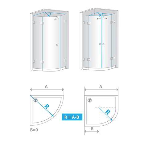 Jak zmierzyć uszczelkę do kabiny półokrągłej?