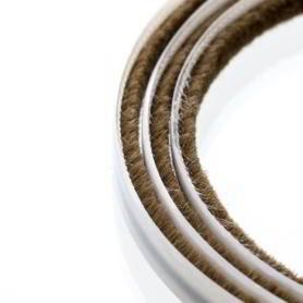 Uszczelka szczotkowa 4 mm brązowa