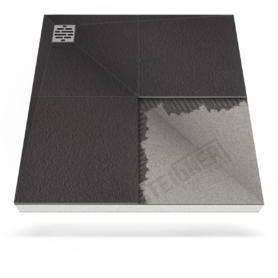 Płyta prysznicowa (brodzik podpłytkowy) do zabudowy Mineral BASIC z zdecentralizowanym odpływem narożnikowym