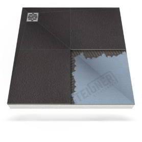 Płyta prysznicowa (brodzik podpłytkowy) do zabudowy Mineral PLUS z zdecentralizowanym odpływem narożnikowym