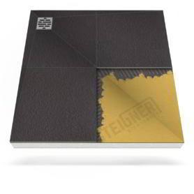 Płyta prysznicowa (brodzik podpłytkowy) Mineral PROFI do zabudowy z zdecentralizowanym odpływem narożnikowym