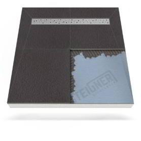 Płyta prysznicowa (brodzik podpłytkowy) Mineral PLUS z odpływem liniowym