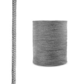 Sznur kominkowy z włókna szklanego SKD02 ciemnoszary 8 mm